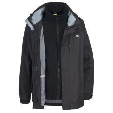 Pánská outdoorová bunda 3 v 1 Trespass Maker / TP75 (2000mm / 3000mvp) Black