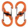 Plastová oboustranná karabina ve tvaru S – balení 2 kusy, barva oranžová Nite Ize S-Biner MicroLock