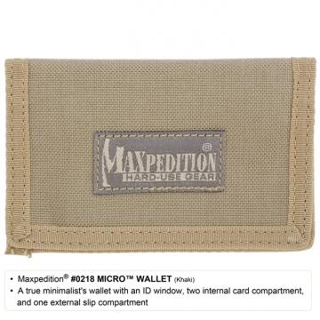Peněženka Maxpedition Micro Wallet (0218) / 11x7 cm Khaki