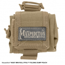 Pouzdro Maxpedition Mini Rollypolly na láhev Nalgene / 20x10 cm Khaki