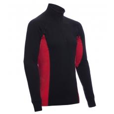 ZIP Polo-krční triko TERMO Original (vlna, střední)  / -15°C +10°C / 220 g/m2 Black