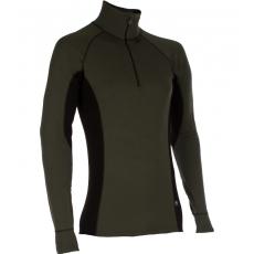 ZIP Polo-krční triko TERMO Original (vlna, střední)  / -15°C +10°C / 220 g/m2 Green