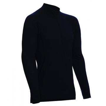 ZIP Polo-krční triko TERMO Original (vlna, lehké)  / -5°C +20°C / 120 g/m2 Black XXL