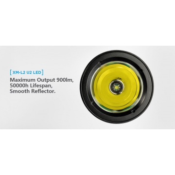 Potápěčská svítilna XTAR D06 XM-L2 U2 / Studená bílá / 900lm (1.2h) / 306m / IPX8-100m / Li-Ion 18650 / 210gr
