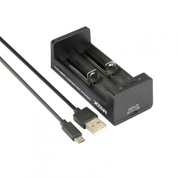 Nabíječka USB XTAR MC2 pro 3.6 / 3.7 Li-ion / IMR / INR / ICR: 18650, 14500, 14650, 16340, 17335, 17500, 17670, 18350, 18490, 18500, 18700, 22650, 25500, 26650