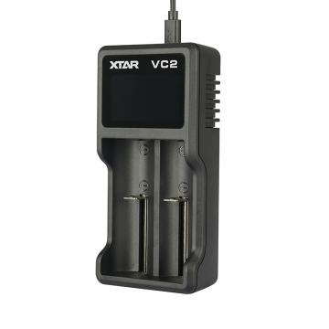 Nabíječka USB XTAR VC2 pro 3.6 / 3.7 Li-ion / IMR / INR / ICR: 18650, 10440, 14500, 14650, 16340, 17335, 17500, 17670, 18350, 18490, 18500, 18700, 22650, 25500, 26650