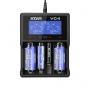Nabíječka USB XTAR VC4 pro:  3.6 / 3.7 Li-ion / IMR / INR / ICR: 18650, 10440, 14500, 14650, 16340, 17335, 17500, 17670, 18350, 18490, 18500, 18700, 22650, 25500, 26650, 32650  Ni-MH / Ni-CD AAAA, AAA, AA, A, SC, C, D