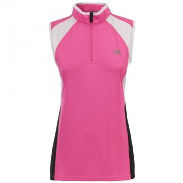 Likvidace skladu! Dámský rychleschnoucí sportovní top Trespass Heartrate Hi Visibility Pink M