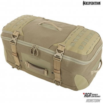 Cestovní batoh Maxpedition Ironstorm Adventure Travel Bag (RSM) AGR / 62L / 38x28x66 cm Tan
