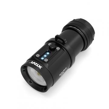 Potápěčská svítilna pro fotografování pod vodou XTAR D08 WALRUS  / 2000lm (4.1h) / 40m / IPX8-100m / včetně Li-Ion 18650 x4 / 465gr