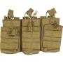 Tři dvojité sumky na zásobníky M4 Viper Tactical Duo Mag Pouch - Treble Coyote