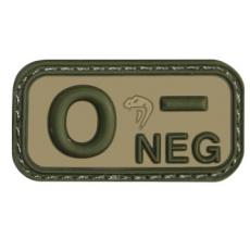 0 Neg - Viper Tactical Blood Group Rubber Patches VCAM / 5x2.5cm