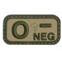 Nášivka na suchý zip 0 Negative - Viper Tactical Blood Group Rubber Patches VCAM / 5x2.5cm