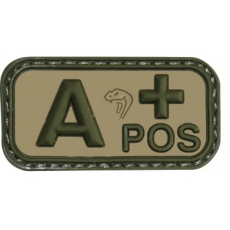 Nášivka na suchý zip A Positive - Viper Tactical Blood Group Rubber Patches VCAM / 5x2.5cm