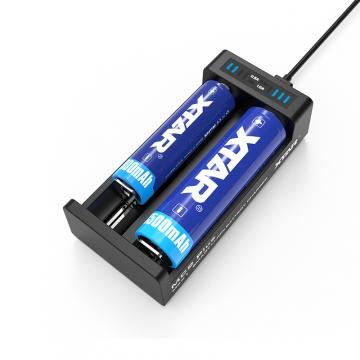 Nabíječka USB XTAR MC2 Plus pro 3.6 / 3.7 Li-ion / IMR / INR / ICR: 18650, 10440, 14500, 14650, 16340, 17335, 17500, 17670, 18350, 18490, 18500, 18700, 20700, 21700