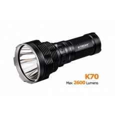 Svítilna Acebeam K70 / Studená bílá / 2600lm (2h) / 1300m / 7 režimů / IPx8 / 4* 18650