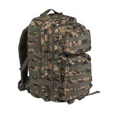 Batoh MilTec US Assault Large (140022) / 36L / 51x29x28cm Digital Woodland