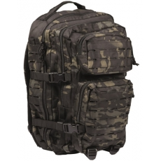 Batoh MilTec US Laser Cut Assault Large (140027) / 36L / 51x29x28cm Multitarn Black