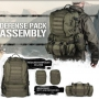 Batoh MilTec Defence Pack Assembly / 36L Green