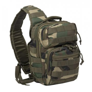 Batoh přes rameno MilTec Assault S / 10L / 30x22x13cm WoodLand