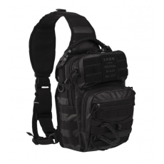 Batoh přes rameno MilTec One Strap Assault Pack Small TACTICAL BLACK / 10L / 30x22x13cm Black