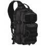 Batoh přes rameno MilTec One Strap Assault Pack Large TACTICAL BLACK / 29L / 48x33x27cm Black