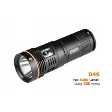 Potápěčská svítilna Acebeam D46  / Studená bílá / 5200lm (5min-2h) / 398m / IPX8-200m /