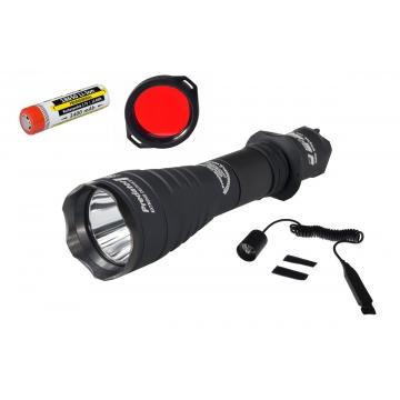 Lovecká sada+: Svítilna Armytek Predator Pro v3 XHP35 / Studená bílá + baterie 18650 3400mAh + Červený filtr + Dálkový ovladač