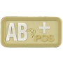Nášivka na suchý zip AB Positive - Viper Tactical Blood Group Rubber Patches VCAM / 5x2.5cm