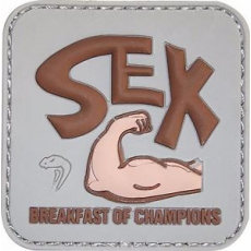 Nášivka na suchý zip Viper Tactical Morale Patch Breakfast of Campions / 5x5cm