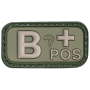 Nášivka na suchý zip B Positive - Viper Tactical Blood Group Rubber Patches Green /