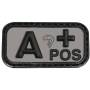 Nášivka na suchý zip A Positive - Viper Tactical Blood Group Rubber Patches Black / 5x2.5cm