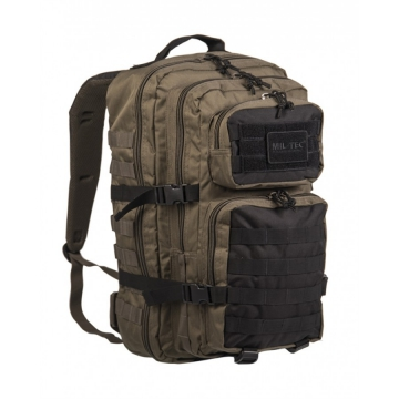 Batoh MilTec Ranger US Assault Large / 36L / 51x29x28cm Green Black