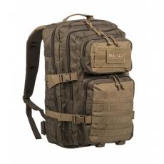 Batoh MilTec Ranger US Assault L / 36L / 51x29x28cm Green Coyote