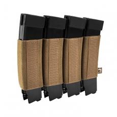 Elastické pouzdro na zásobníky na suchý zip Viper Tactical VX Quad SMG Mag Sleeve Dark Coyote