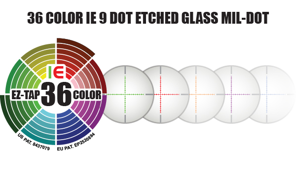 36 COLOR IE 9 DOT ETCHED GLASS MIL-DOT