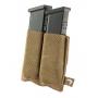 Elastická sumka MOLLE na zásobníky do pistole Viper Tactical Double Pistol Mag Plate Dark Coyote