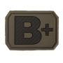 Nášivka na suchý zip MilTec B+ OD Green / 3,8x2,8cm