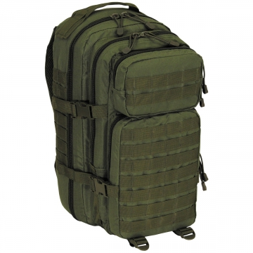 Batoh MFH US Assault I Basic / 30L / 23x44x24cm OD Green