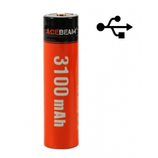 Acebeam Li-Ion 18650 USB PowerBank 3100mAh 20A Dobíjecí,