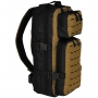 Batoh MFH Assault-Travel Laser / 30L / 23x44x18cm Black-coyote tan