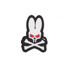 Nášivka na suchý zip 101 Inc. Skull Bunny / 90x65mm