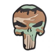 Nášivka na suchý zip 101 Inc. Punisher Woodland / 65x85mm