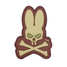 Nášivka na suchý zip 101 Inc. Skull Bunny Coyote / 90x65mm