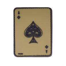Nášivka na suchý zip 101 Inc. Ace of Spades - Green / 60x80mm