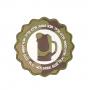 Nášivka na suchý zip 101 Inc. Real Men Drink Beer - Woodland / 73mm