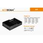 Nabíječka Acebeam A4 pro Li-ion / Ni-MH / Ni-CD / LiFePO4