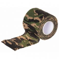 Elastická maskovací páska MFH Woodland - 5cmx4,5m